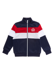 Boys Navy Tricot Jacket (3-12 years)
