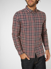 Dark Red Check Shirt
