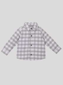 Grey Long Sleeve Check Shirt (0-24 months)