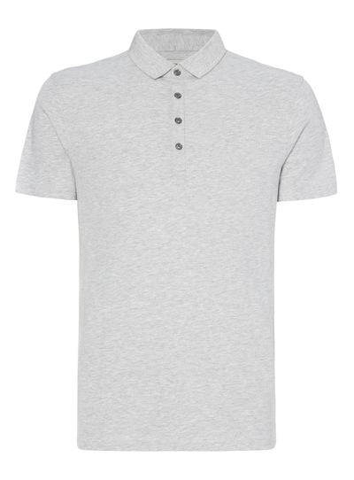 Grey Marl Jersey Polo