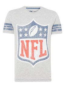 Grey NFL Team Shield Tee