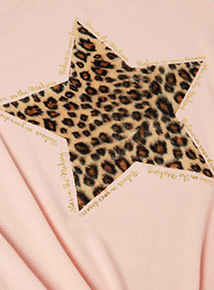 Multicoloured Leopard Star Top and Legging Set (3-14 years)