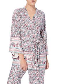 Multicoloured Paisley Wrap Kimono Robe