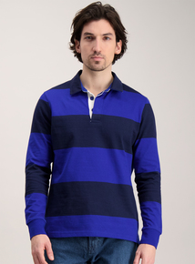 Cobalt Blue Stripe Rugby Top
