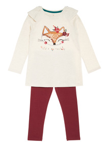 Multicoloured Long Top and Legging Set (9 months-6 years)