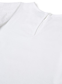 White Woven Top (3-14 years)