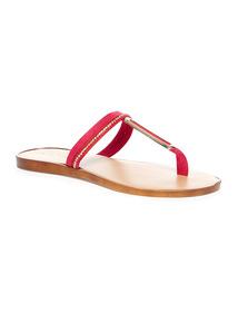 Bead Toe Post Sandals