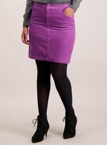Lilac Cord Mini Skirt