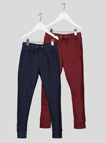 Multicoloured Joggers 2 Pack (3-14 years)