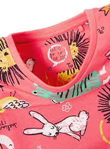 Pink Animal Print Jersey Dress (9 months-6 years)