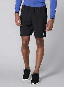 Admiral Black Woven Running Shorts