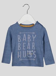 Blue Baby Bear Hugs T-Shirt (0-24 months)