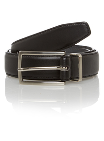 Black Feather Edge Belt