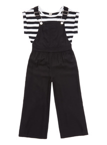 Black Dungaree Set (3 - 14 years)