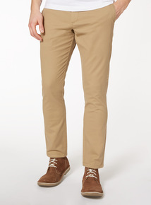 Stone Slim Fit Chinos With Stretch