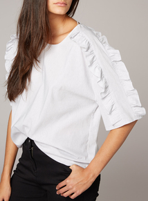 Premium Striped Frill Shirt