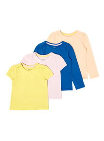 4 Pack Multicoloured Tops (9 months-6 years)