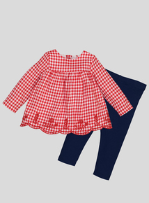 Red Gingham Top & Legging Set (0-24 Months)