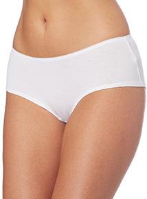 White Plain Shorts 5 Pack