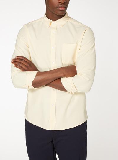 Yellow Chambray Stretch Oxford Shirt