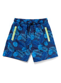 Multicoloured Leaf Print Swim Shorts (9 months-6 years)