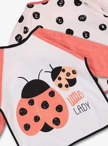 Multicoloured Ladybird Bibs 2 Pack (one size)