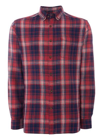 Red Indigo Brushed Check Shirt