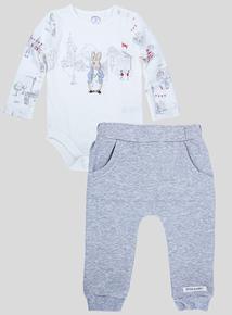 Peter Rabbit Cream Body and Joggers Set (Newborn - 12 months)