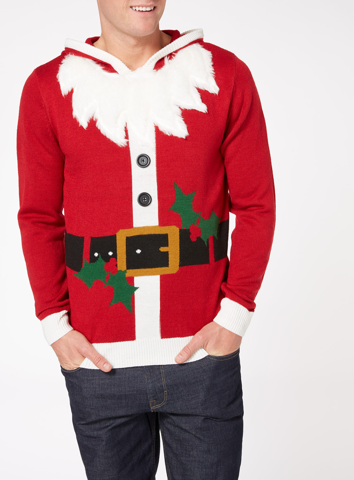 Christmas Jumpers Clothes Tu Clothing Red Santa Outfit Jumper Father