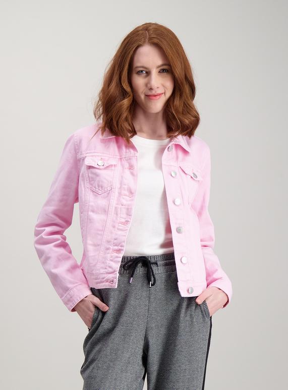 23085fc1f Womens Pastel Pink Denim Jacket | Tu clothing