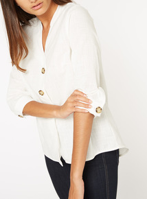 White Button Through Blouse