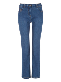 Mid Denim Straight Fit Jeans