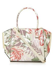 Multicoloured Palm Leaf Shopper Bag