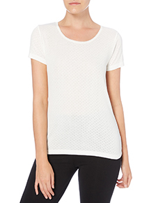 Cream Pointelle Thermal Top