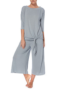 Blue Cropped PJ Bottoms