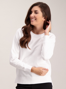 White Boxy Sweatshirt