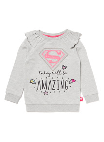 Grey Super Frilled Sweatshirt (9 months-6 years)