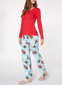 Holly Print Pyjama Set