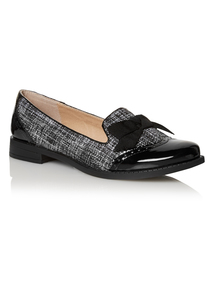 Black Boucle Loafers