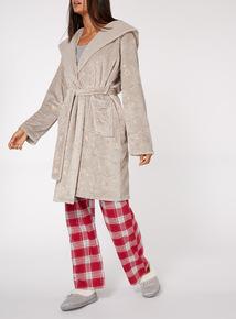 Fliuffy Foil Star Print Dressing Gown