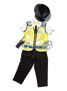 Yellow Police Officer Costume With Accessories (2-10 years)