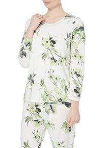Floral Long Sleeve Pyjama Top