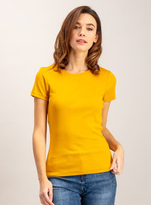 Mustard Yellow Crew Neck T-Shirt