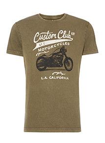 Khaki 'Custom Club' T-Shirt
