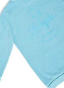Blue 'Los Angeles' Long Length Slogan Print Sweat (3-14 years)