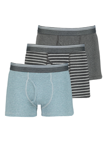 Teal & Grey Printed Trunks 3 Pack