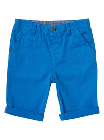 Boys Blue Chino Shorts (9 months-6 years)