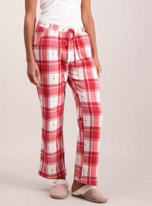 Red Check Fleece Pyjama Bottom