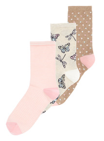 Butterfly Ankle Socks 3 Pack