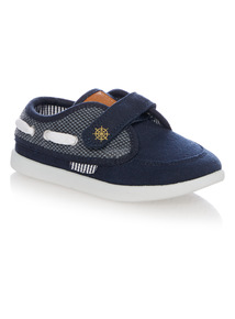 Boys Navy Boat Shoes